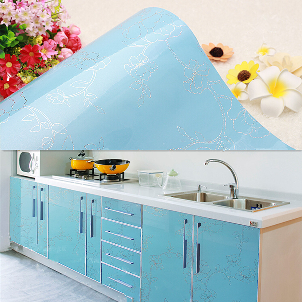 Vinyl Floral Contact Paper Self Adhesive Wallpaper Roll Kitchen ...