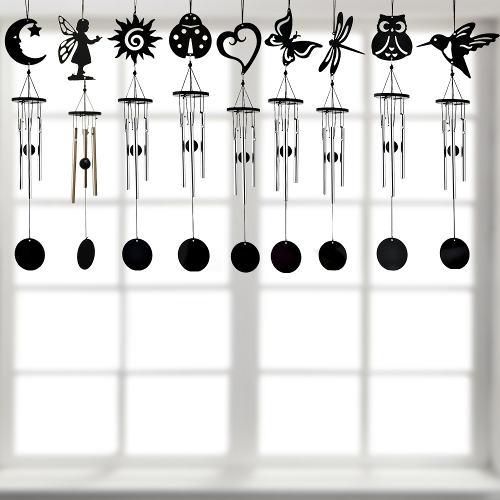 Details about Butterfly Aluminium Tubes Hanging Wind Chimes Handmade Swing  Home Garden Chime